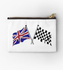 Crossed flags - Racing and Great Britain Studio Pouch