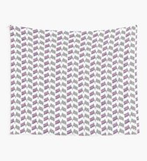 Crossed flags - Racing and Great Britain Wall Tapestry