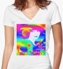 Abstract Color Dream Women's Fitted V-Neck T-Shirt