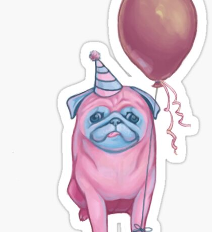 Party pug Sticker