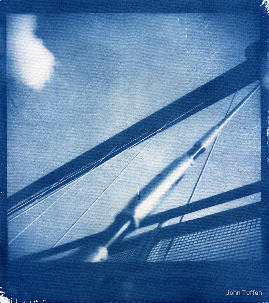 Cyanotype: Millenium Bridge, York by John Tuffen