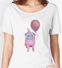 Party pug Women's Relaxed Fit T-Shirt