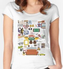 Friends Icons Women's Fitted Scoop T-Shirt