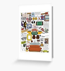 Friends Icons Greeting Card