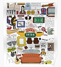 Friends Icons Poster
