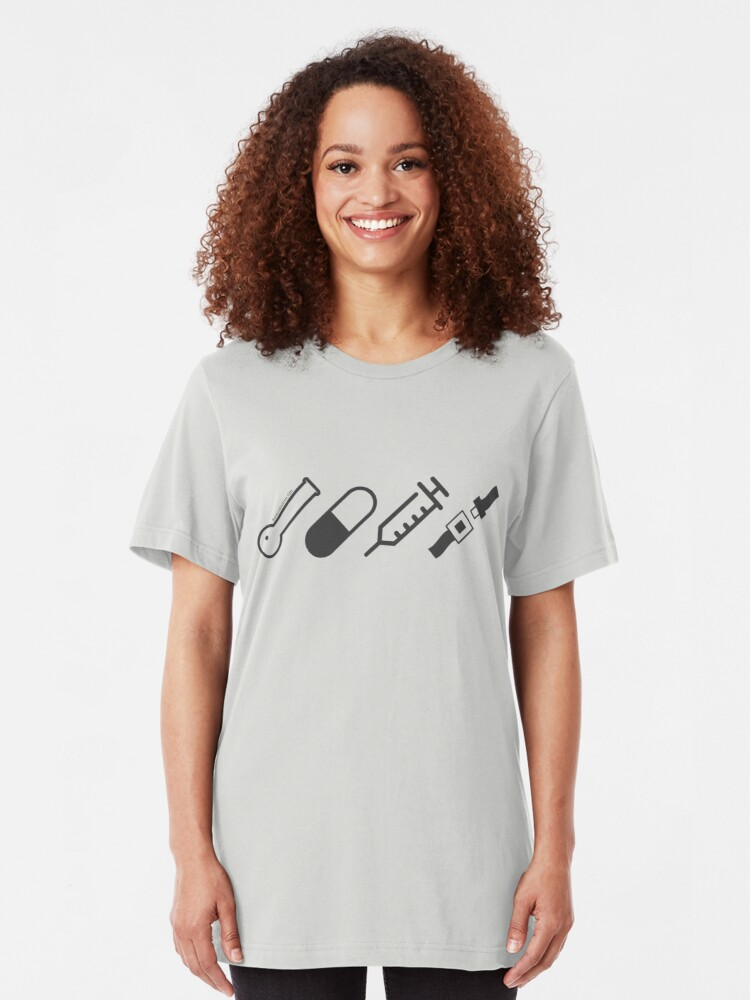 Alternate view of Harm Reduction Tips Slim Fit T-Shirt