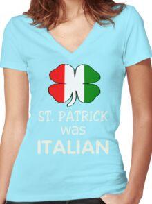 St Patricks Day Italian T-Shirt Women's Fitted V-Neck T-Shirt