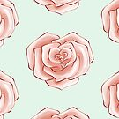 Heart Rose Valentine Inspired Flower Pattern by simplydikka