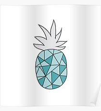Drawing pineapple Poster