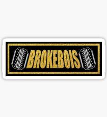 BrokeBois Slap Sticker - Black and Gold Sticker