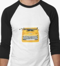Vintage Typewriter Men's Baseball ¾ T-Shirt