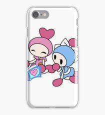 Pink Bomberman + Cyan Bomberman - Super Bomberman R iPhone Case/Skin