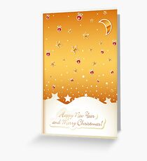 Merry Christmas card with decorations Greeting Card