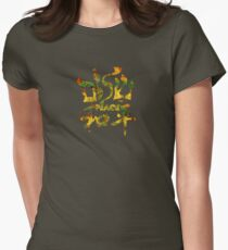 Peace - Hebrew & Chinese Women's Fitted T-Shirt