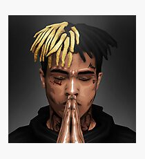 XXXTENTACION / PRAY FOR X / FREE X Box Design Photographic Print