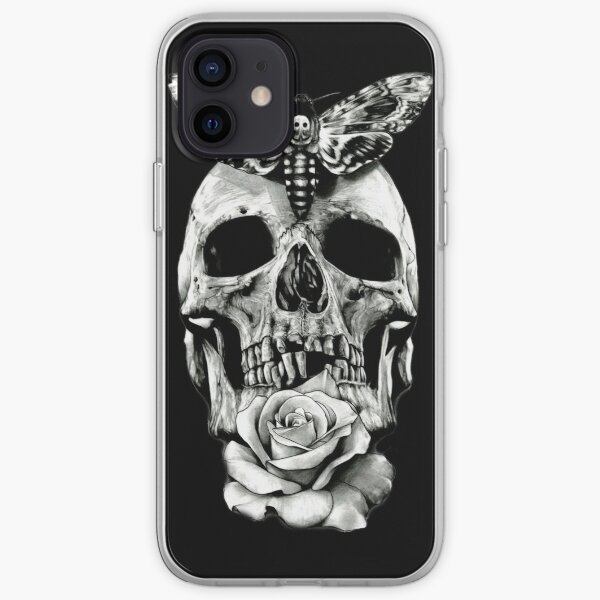 TATTOO - Butterfly on skull iPhone Soft Case