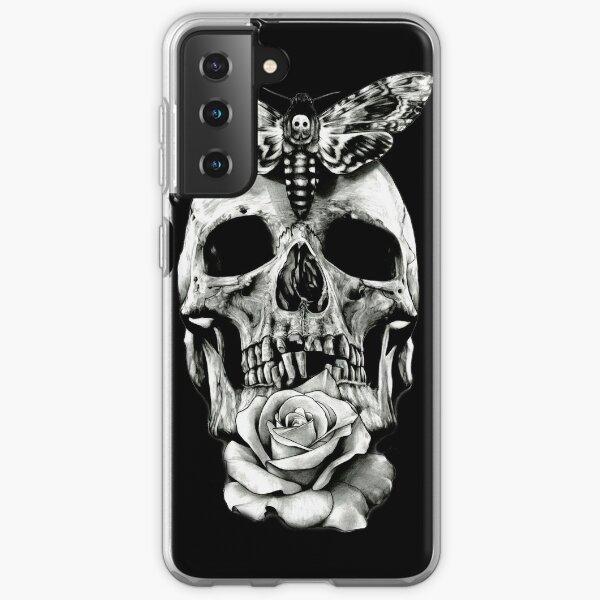 TATTOO - Butterfly on skull Samsung Galaxy Soft Case