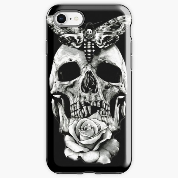 TATTOO - Butterfly on skull iPhone Tough Case