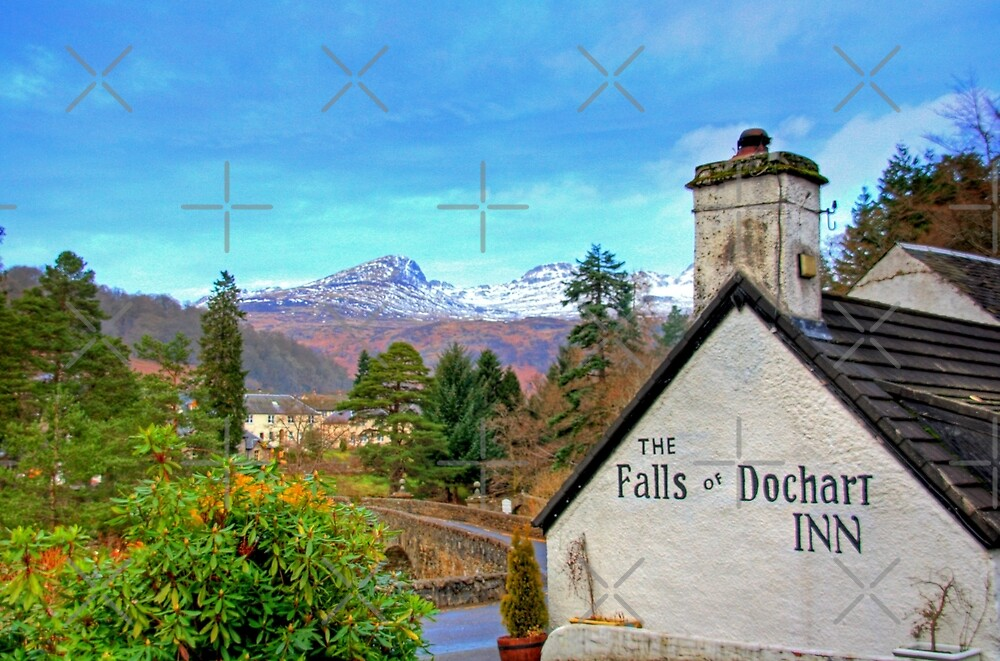 The view from the Falls of Dochart Inn by Tom Gomez