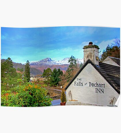 The view from the Falls of Dochart Inn Poster