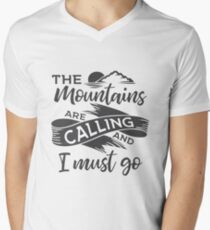 The mountains are calling and I must go Grey ribbon T-Shirt