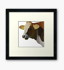 Low Poly Hilarious Cow Framed Print