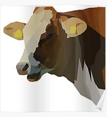 Low Poly Hilarious Cow Poster