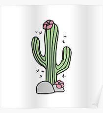 Cute cactus. Hug me! Poster