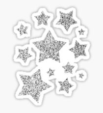 Beautiful Silver glitter sparkles Sticker