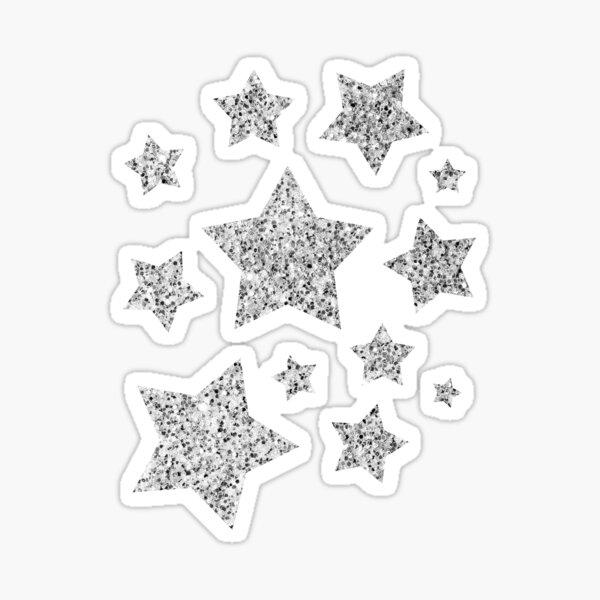 Beautiful Silver glitter sparkles Sticker