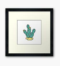 Drawn Cacti Framed Print
