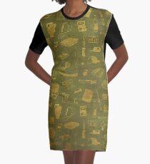 Supernatural - Green Graphic T-Shirt Dress