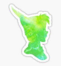 lost boy - green watercolor Sticker