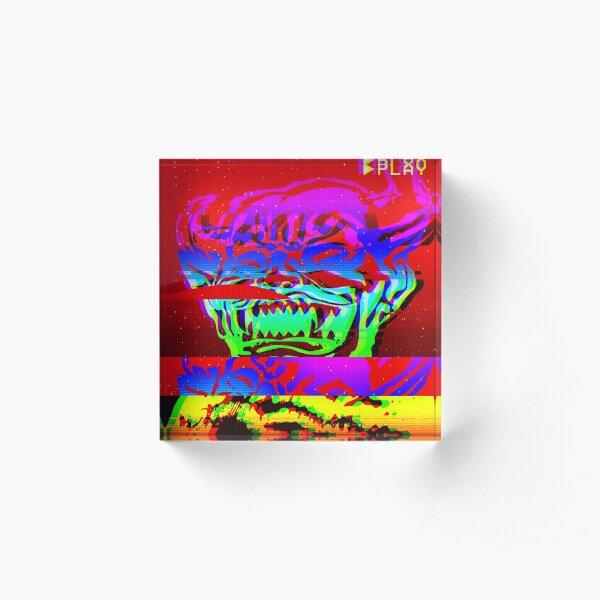Glitch Hob Acrylic Block