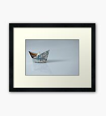ship on the right course Framed Print