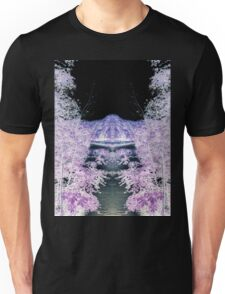 The moon in purple trees Unisex T-Shirt