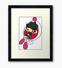 Black Bomberman - Super Bomberman R  Framed Print