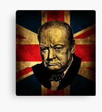 Winston Churchill Canvas Print