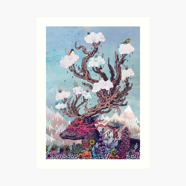 Journeying Spirit (deer) Art Print