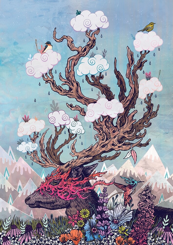 Journeying Spirit (deer) by MatMiller