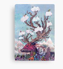 Journeying Spirit (deer) Metal Print