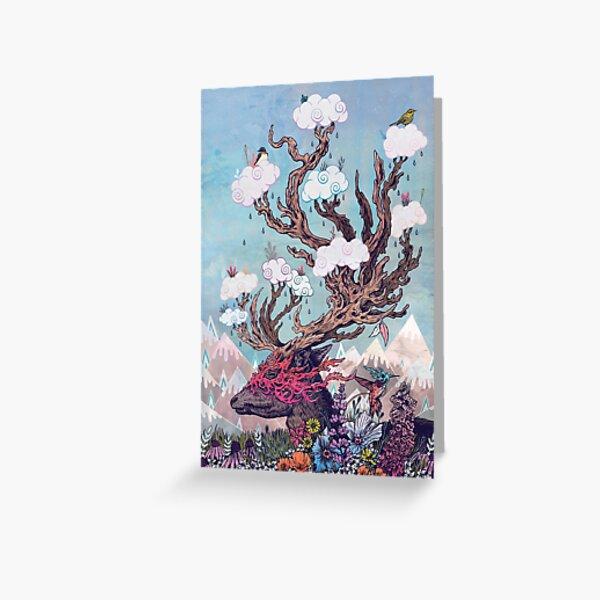 Journeying Spirit (deer) Greeting Card