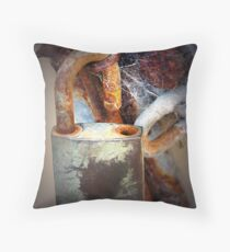 Dad's shed Throw Pillow