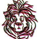 swirly lion  by actualfox