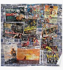 WALL GRAFITTI  with FILM POSTERS Poster