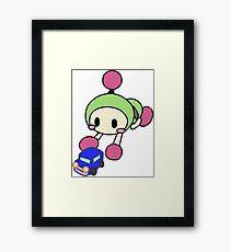 Green Bomberman - Super Bomberman R Framed Print