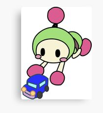 Green Bomberman - Super Bomberman R Canvas Print