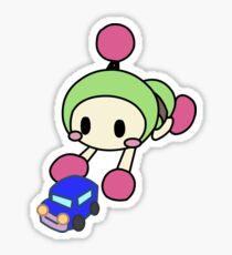 Green Bomberman - Super Bomberman R Sticker