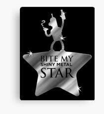 Bite My Shiny Metal Star Canvas Print