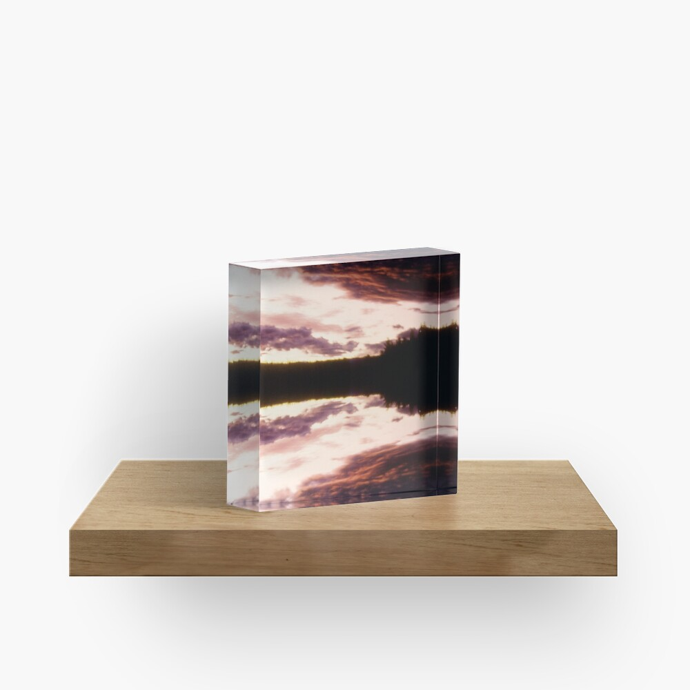 Rorschach's Sunset Acrylic Block